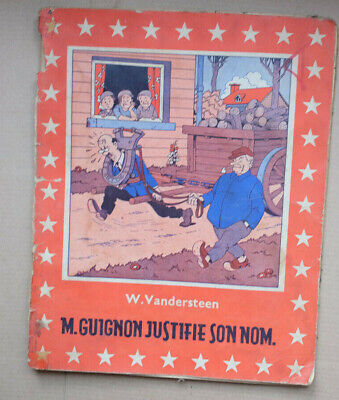 "Ancienne BD belge Willy Vandersteen ""M Guignon justifie son nom"" Bob et Bobette"