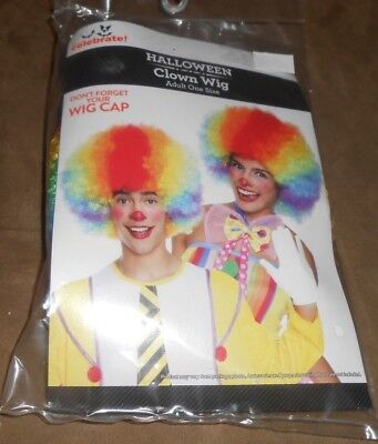 Halloween Clown Room (Halloween Clown Wig Adult Way to Celebrate One Size  Brand New in)