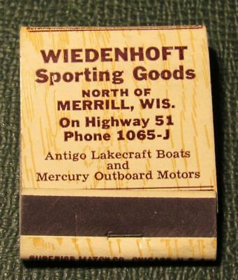 Matchbook - Wiedenhoft Sporting Goods Merrill WI FULL Mercury Boat Motors