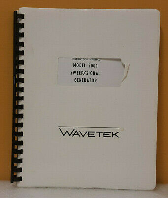 Wavetek Model 2001 Sweepsignal Generator Instruction Manual