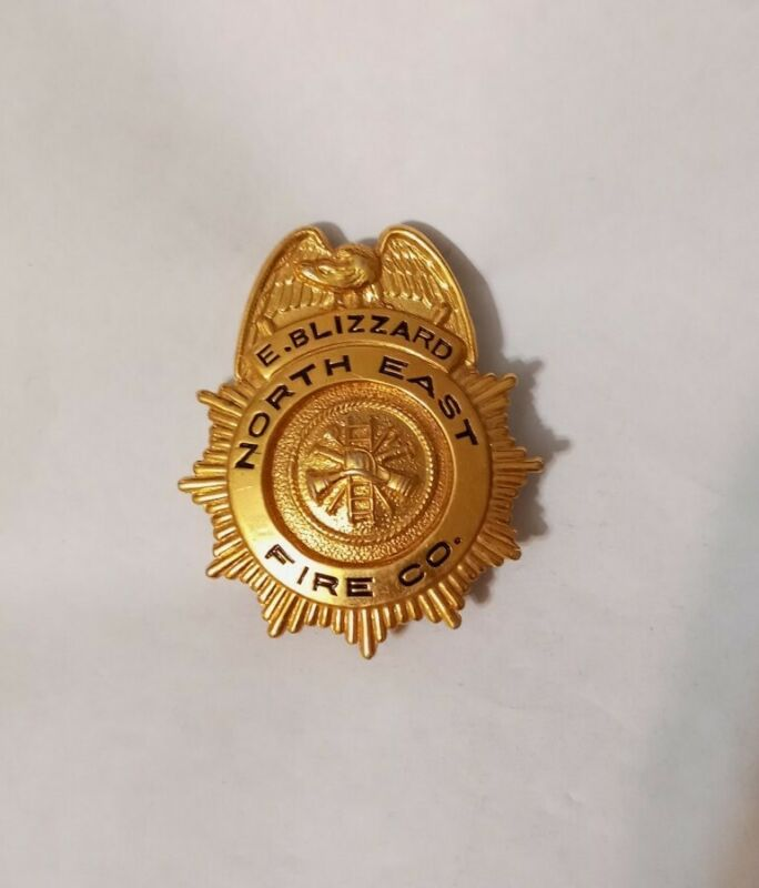 Vintage North East Fire Company Firefighter Badge