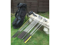 Full set of clubs and Standbag