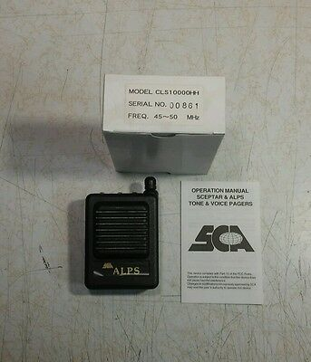 New Sca Alps Low Band 45-50 Mhz Vhf 2ch Tone Voice Pager Vibrate Sp-av03