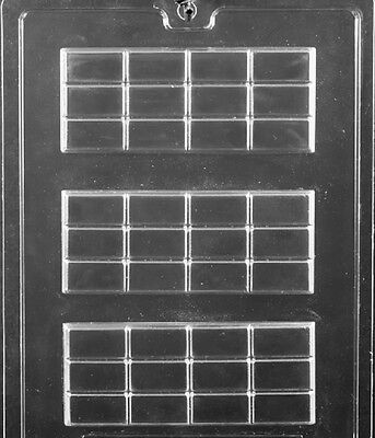 AO149 3-Up Break Apart Hershey Bar Chocolate Candy Mold
