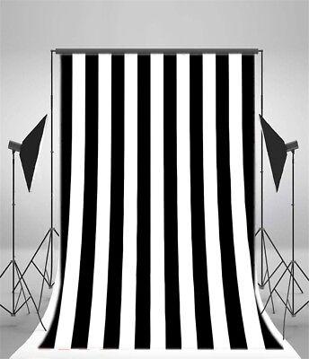 5x7' Black White Stripes Photography Party Decor Background Vinyl Photo Backdrop