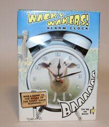 Mark Feldstein Wacky Wakers Sheep Alarm Clock NEW IN BOX