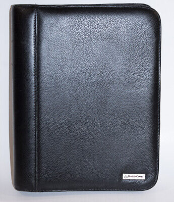 Franklin Covey Classic 7-ring Planner Black Pebbled Leather Organizer 756875