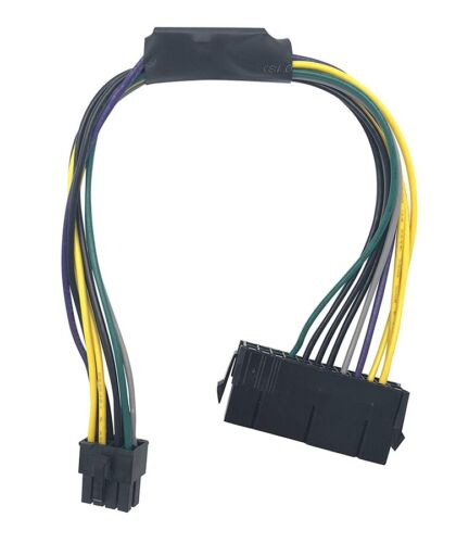24-Pin to 8-Pin 18AWG ATX Power Supply Adapter Cable for Dell Optiplex A689