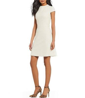 dress size 12 Vince camuto beige/ivy Stylish fit-&-flare / it best fits a