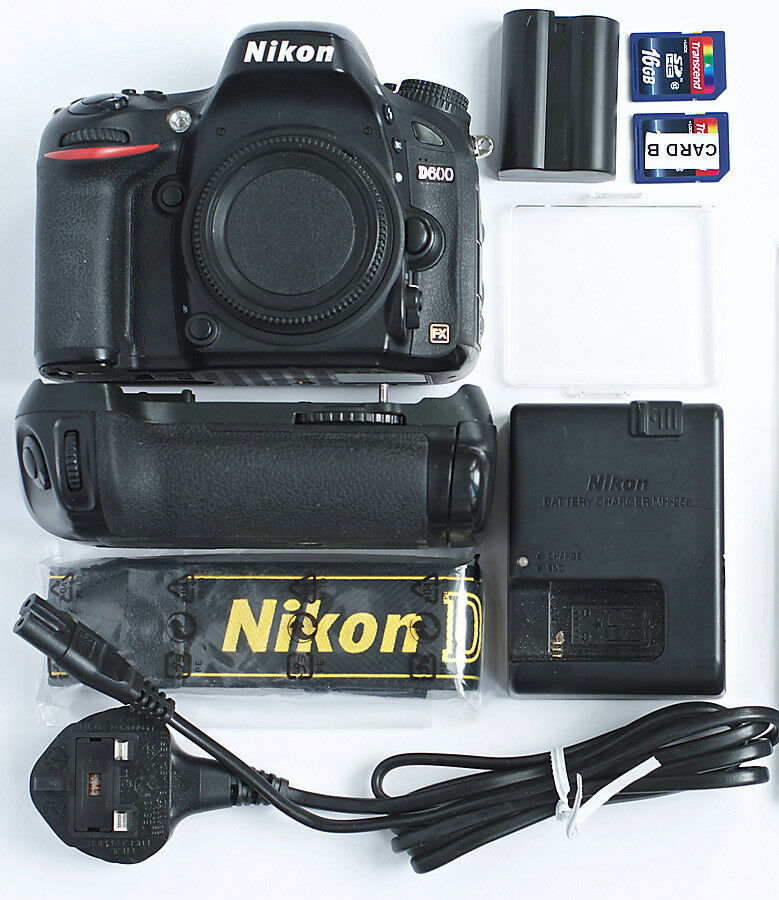 Nikon D600 Full Frame FX Camera + Battery Grip + Accessories