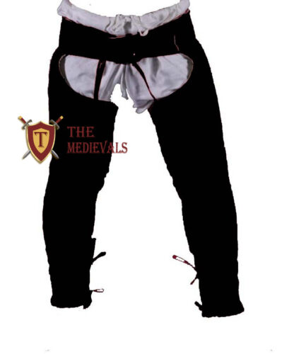 MEDIEVAL CHAUSSES UNDER ARMOR TROUSER LAGGING THICK PADDED COSTUME FOR SCA HEMA