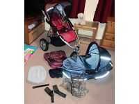 Quinny Speedy pushchair with carrycot 2in1