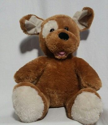 "Build a Bear plush Dog Brown With Tongue Sticking Out 11"" Plush EUC"