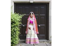 Ladies Indian Designer Wedding Dress (Lengha) Size 6/8 (from Asiana Bridal Fair) - worn for 7 hours