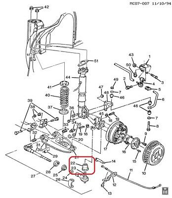 SEAL / BOOT Rear Adjustable Link GENUINE GM 7844424
