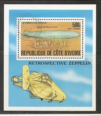Ivory Coast SC # C63 Zeppelin Type Of 1977. CTO. MNH