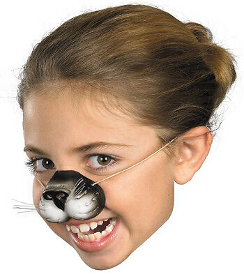 BLACK KITTY CAT FELINE VINYL NOSE KIDS PLAY STAGE MAKEUP COSTUME FA132 - Cat Nose Makeup