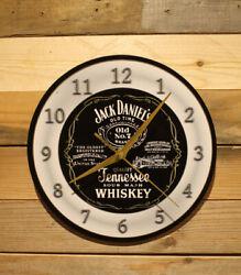 Jack Daniels Whiskey Vintage-Style Wall Clock Lg 9  Silent Motor Sweep Hand