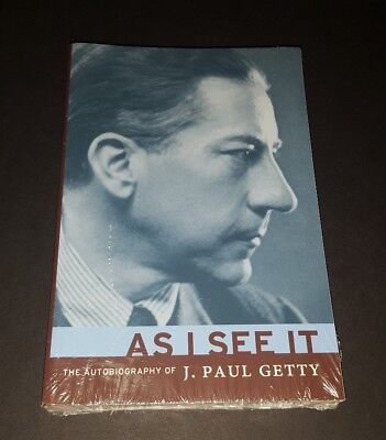 As I See It  The Autobiography Of J  Paul Getty  Paperback Book  2003    Sealed