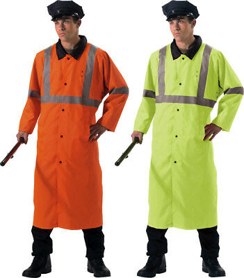 Reflective Hi Vis High Visibility Reversible Rain Police Traffic Jacket Coat