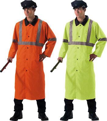 High Visibility Reversible Jacket - Reflective Hi Vis High Visibility Reversible Rain Police Traffic Jacket Coat