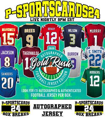 2020 GOLD RUSH AUTOGRAPHED AUTO FOOTBALL JERSEY LIVE BOX LIVE BREAK #3574