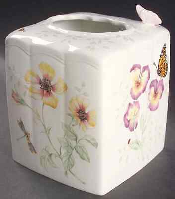 Lenox BUTTERFLY MEADOW Square Tissue Box Cover 6223589