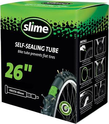 Slime Self-Sealing Tube 26 x 1.75-2.125 48mm Presta Valve ()