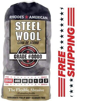 Steel Wool 12 pad, Super Fine Grade #0000 Rhodes American Final Finish Rhodes Steel Wool