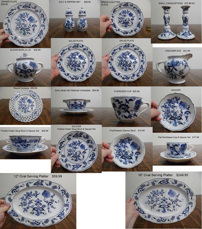 Blue Danube China Dinnerware Set Of 8+