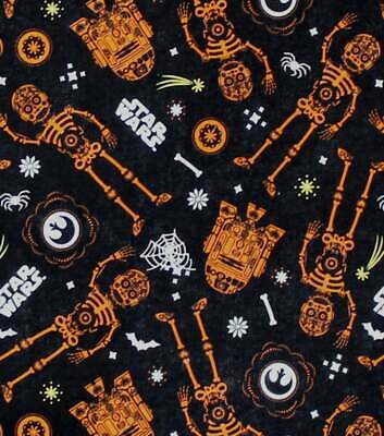 Star Wars Glow In The Dark Fabric Fat Quarter Cotton Craft Quilting
