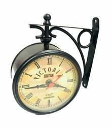 Nautical Maritime Victoria Station Double Sided Railway Clock Home & Office Wall