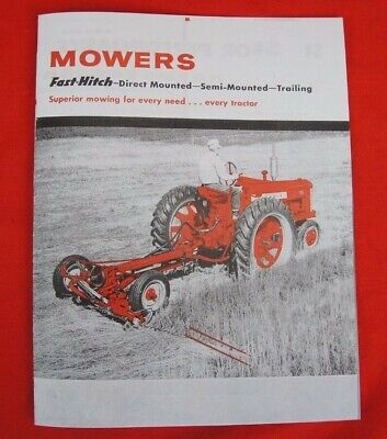 Ih Farmall Mccormick Fast Hitch Sickle Mowers Sales Brochure 130 230 350 450 Cub