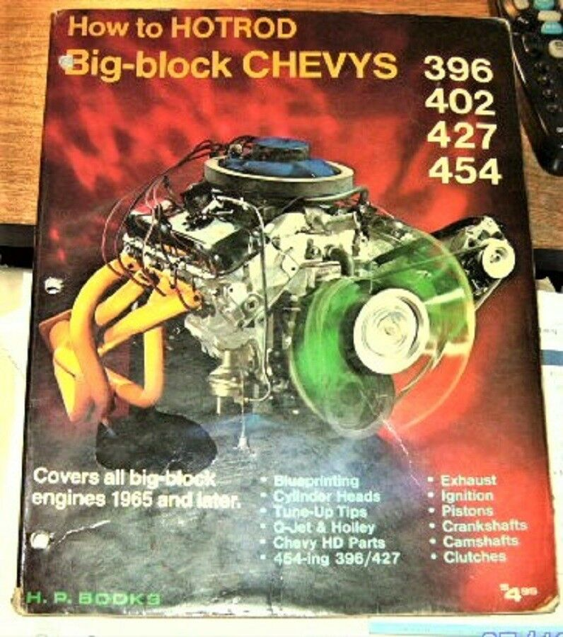 HP BOOKS how to hotrod big block chevys 396 402 427 454 bible
