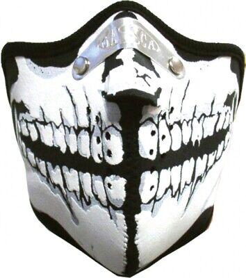 Motorrad Neopren Maske Totenkopf Zähne,Biker Maske skull face, Mund-Nasenschutz