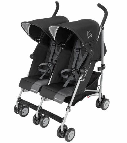 Maclaren 2020 Twin Triumph Double Stroller, Black/Charcoal - NEW! [Open box]