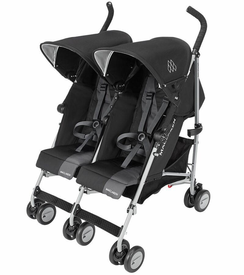 BLACK Maclaren® Twin Triumph Double Light Weight Stroller I
