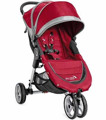 Baby Jogger 2016 City Mini Single Stroller - Crimson / Gray