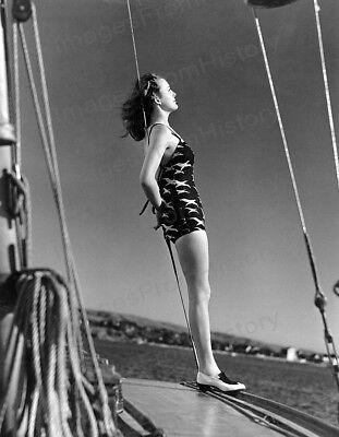 8x10 Print Virginia Grey Balboa Yacht Harbor in California 1938 #VGEC