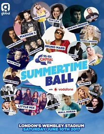 Capital FM Summertime Ball Tickets x 2 General Admission (Standing)