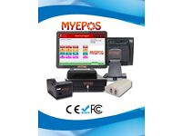 Complete EPOS System, Built in Rear VFD Display, Thermal Printer, Cash Drawer & Software