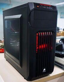 POWERHOUSE GAMING PC /8-Core x 4 GHz CPU/16GB RAM/ 256GB SSD/ AMD R9 2GB GCard/