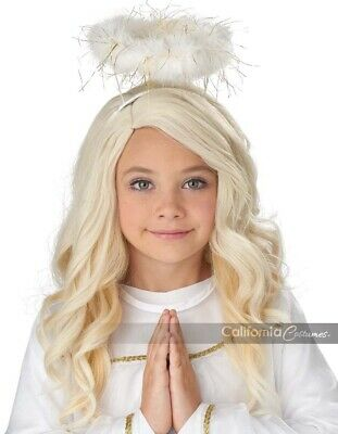 California Costumes Golden Angel Blonde Perücke Kinder Halloween Kostüm 70953