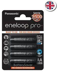 Panasonic eneloop PRO AA Battery(4 pack) 2500mAh **5th Generation BK-3HCDE**