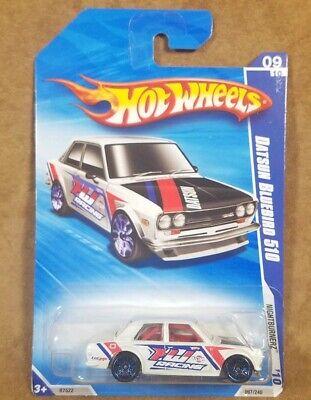 Hot Wheels Datsun Bluebird 510 Nightburnerz White