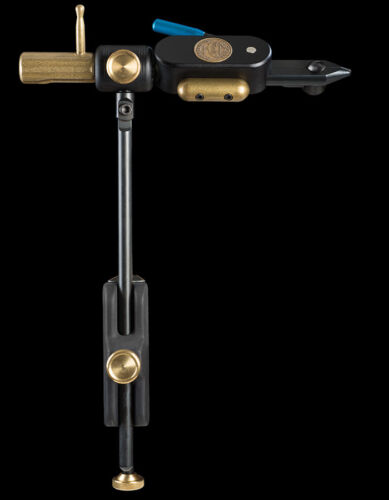 REGAL REVOLUTION ROTARY FLY TYING VISE WITH REGULAR JAWS & CLAMP BASE