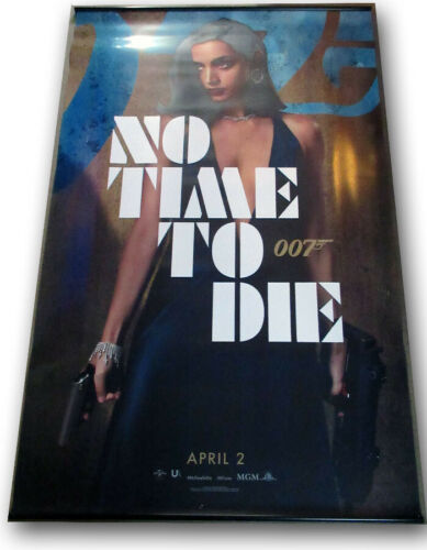 "No Time To Die ORIGINAL BANNER Daniel Craig James Bond 007 ""Ana"" 5 x 8 foot!!"