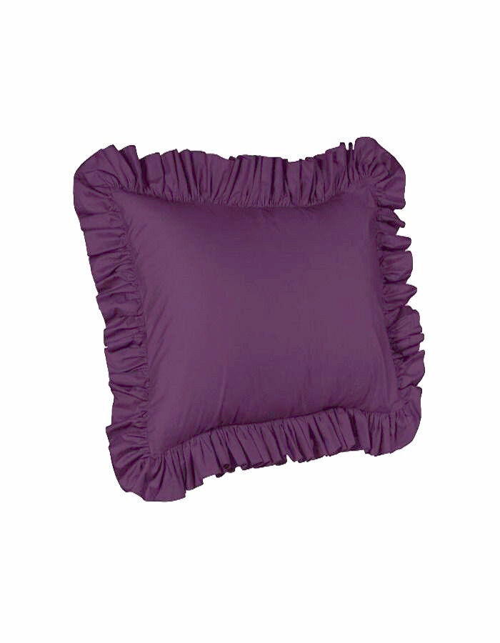 Solid Purple Cover Case Decorative Pillow 26″ x 26″ 2 Piece Euro Ruffled Shams Bedding