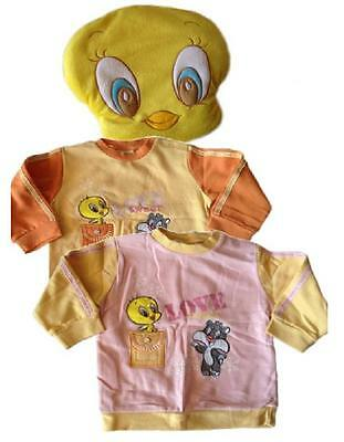 Abbigliamento prima infanzia Cuscino + felpa Looney Tunes Titty *12581