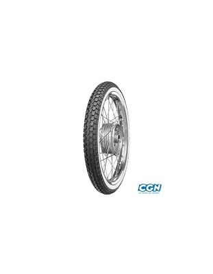 "Tire cyclo 19"" 2 1/4 x 19 continental kks10 reinf flank white tt 41b"